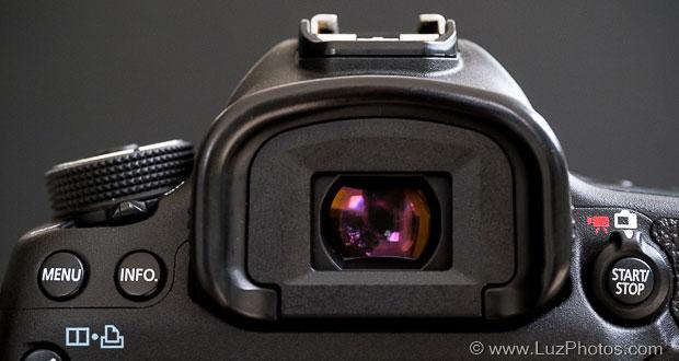 Évaluer le confort de visée à partir des caractéristiques d'un viseur - Photo viseur du Canon EOS 5D mark III