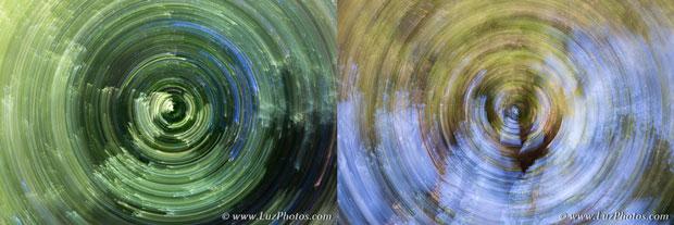 Exemples de flous de bougé artistique : mouvement de rotation