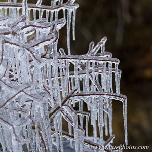 Photo en hiver - Se protéger du froid : photo d'illustration, stalactites de glace