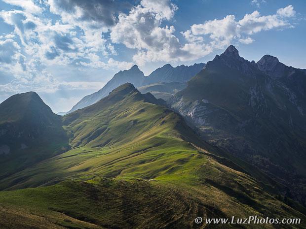 Stage photo nature dans les Pyrénées : photo de crêtes en montagne