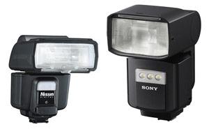 Choix flash cobra - l'importance du poids et de l'encombrement : présentation de 2 flashs de même puissance, le flash Nissin i60A et le flash Sony HVL-F60RM