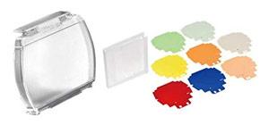 Choix flash cobra - la possibilité d'ajouter des filtres de couleur : exemple chez Nikon