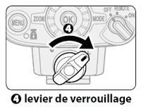 Choix flash cobra - système de verrouillage du sabot du flash : illustration du système de chez Nikon