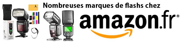 Nombreuses marques de flashs cobra chez Amazon
