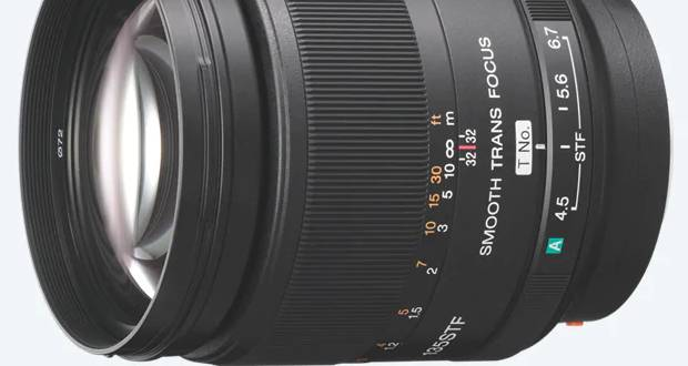 Objectif Sony 135 mm F 2.8 [T 4,5] avec sigle STF (Smooth Transition Focus)