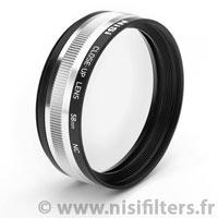 Bonnette macro NiSi 58 mm de 5 dioptries (livrée avec sa pochette et ses 2 bagues d'adaptation de 49 et 52 mm)