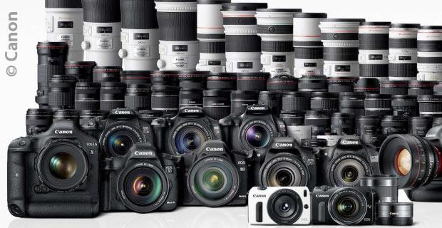 Gamme appareils photo numériques (APN) et objectifs chez Canon