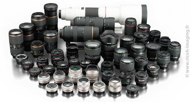 Collection d'objectifs photo illustrant la difficulté de bien choisir