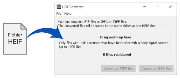 Le format HEIF chez Sony - Utilitaire de conversion HEIF vers JPEG ou TIFF