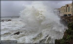 Tempête sur Biarritz - Février 2016